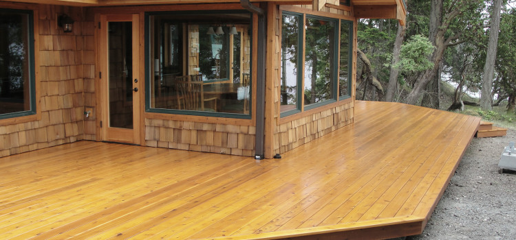 San Juan Island Wrap Around Deck